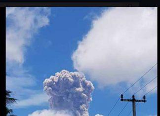 Vulkan Agung bricht erneut aus