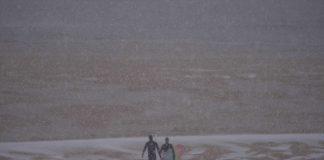 Es lag Schnee am Strand von Hossegor