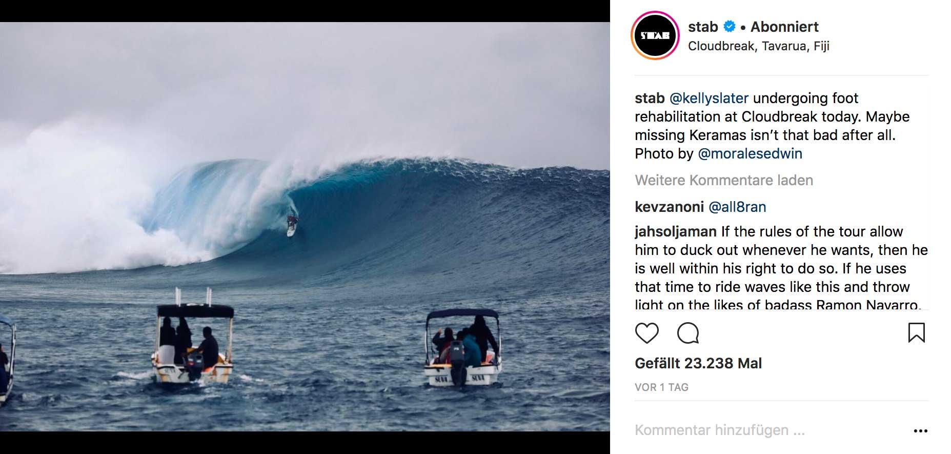 Kelly Slater sagte den Contest der WSL-Tour auf Bali ab und flog stattdessen nach Fidschi. Man kann sagen: Es hat sich gelohnt.