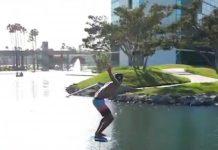 Kai Lenny kürzt über den See ab und das ohne nass zu werden