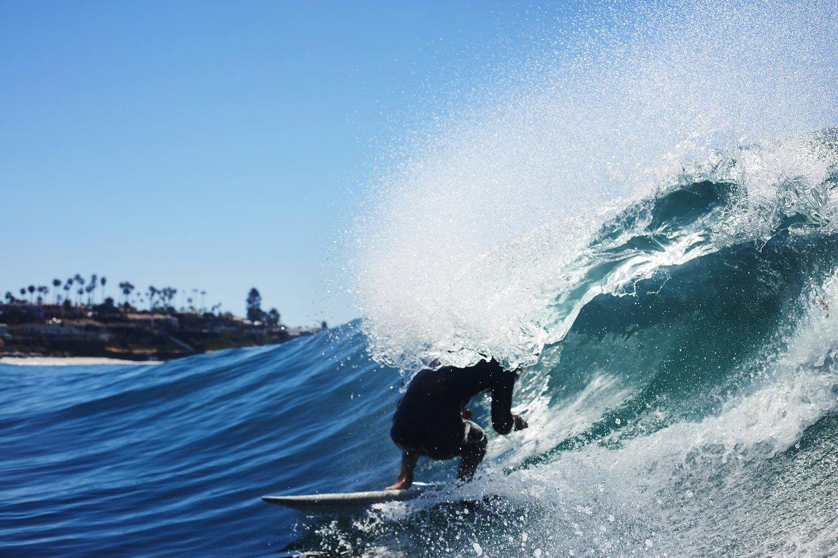 Schnell, stylisch – Surfen.