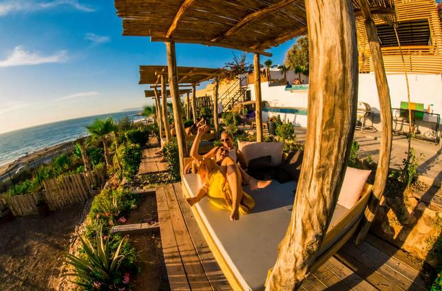 Chillout Area im Pure Surfcamp Marokko