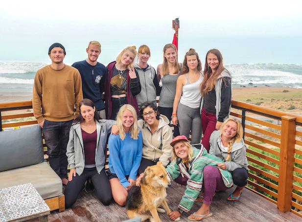 Das Team vom Pure Surfcamp Marokko in Aourir
