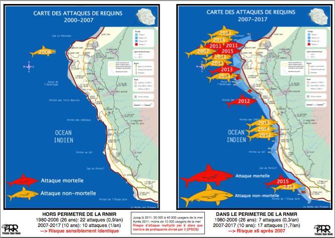 Hai-Attacken auf La Reunion