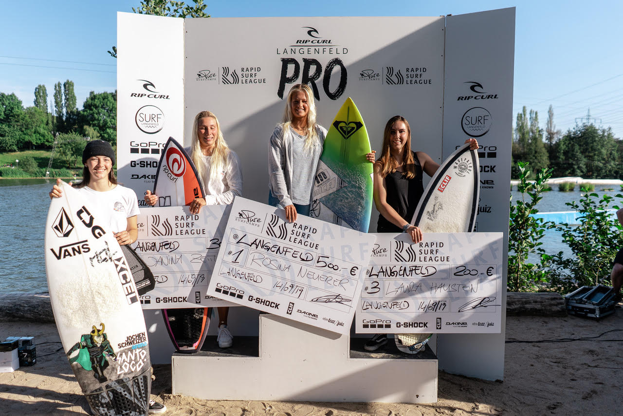 Langenfeld Rapid Surf League Podium Frauen